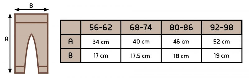 Detské merino nohavice krémové 3